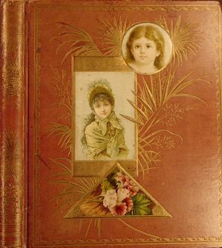 A scrap album containing an exceptional collection of American advertising and trade cards....